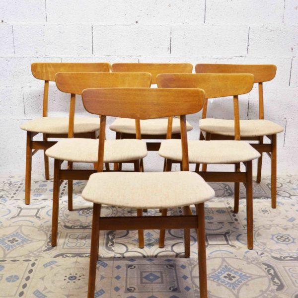 Pieds compas vente mobilier design vintage scandinave for 1 chaise scandinave