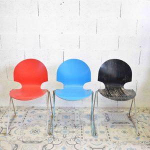chaise école vintage fritz hansen design jacobsen