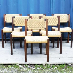 chaises vintage bois paille cannage design perriand scandinave retro bistrot