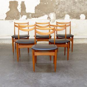 6 chaises esprit scandinave