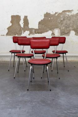 série de 6 chaises vintage