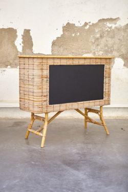 bar vintage en bambou