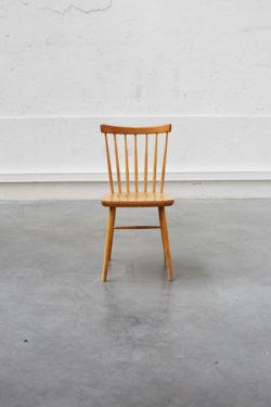 chaise vintage retrofurniture scandinave chaise bistrot ancien ecole chaise a barreaux bois blond home deco teck lot baumann