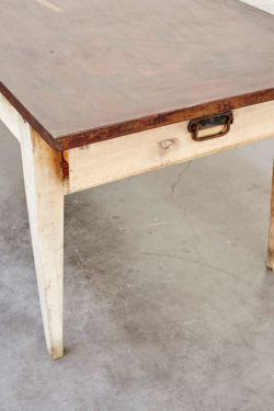 table ferme grande table vintage chine brocante concept store table de ferme rustique retro brut bois mobilier ancien