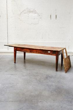 table ferme grande table vintage chine brocante concept store table de ferme rustique retro brut bois mobilier ancien table de boucher