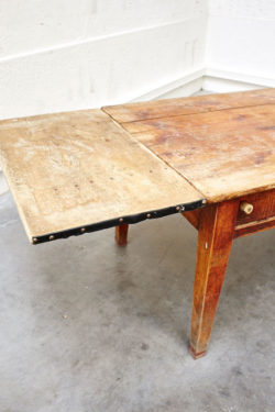 table ferme grande table vintage chine brocante concept store table de ferme rustique retro brut bois mobilier ancien table de boucher
