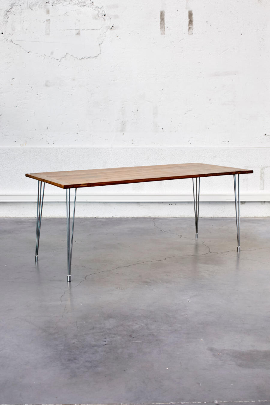 table industrielle pieds compas. Black Bedroom Furniture Sets. Home Design Ideas