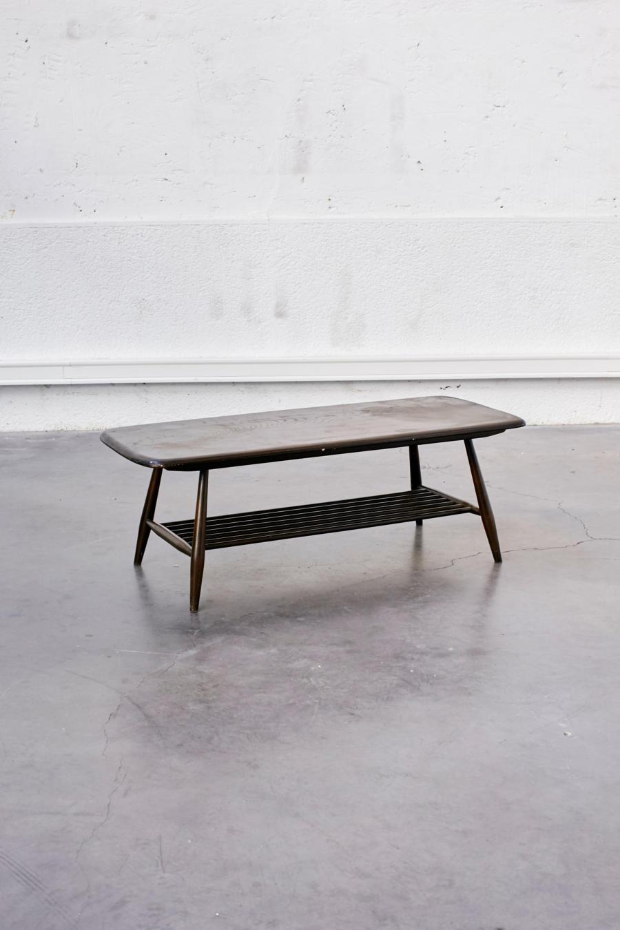 table basse ercol pieds compas. Black Bedroom Furniture Sets. Home Design Ideas