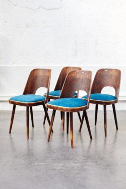 Série de chaises vintage