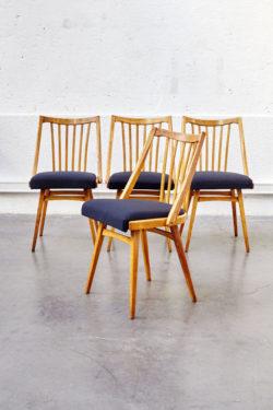 Série de 4 chaises vintage