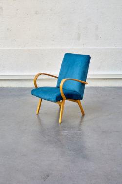 fauteuil vintage en velours