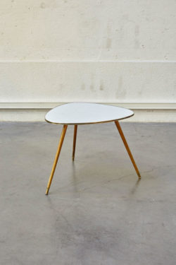 table tripode blanche