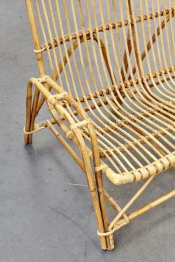 banquette en rotin vintage mobilier vintage pieds compas baumann tapiovaara mobilier industriel lampe industrielle mobilier scandinave