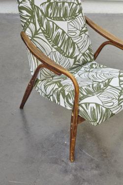 fauteuil vintage fauteuil scandinave fauteuil feuille de palme feuille de bananier assises vintage pieds compas rotin banquette rotin lit corbeille mobilier vintage mobilier scandinave lampe industrielle décoration industrielle