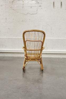rocking chair rotin bambou vintage mobilier scandinave fauteuil