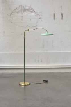 Lampadaire vert vintage stilnovo lampe scandinave mobilier
