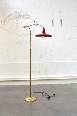 Lampadaire rouge italien vintage mobilier scandinave