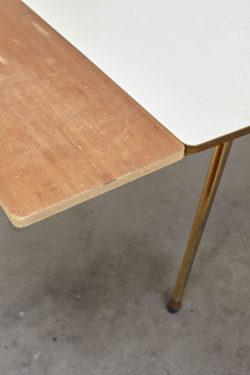 Grande table en formica vintage mobilier scandinave