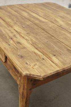 Table en bois rustique vintage mobilier scandinave