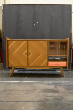 Buffet avec vitrine vintage mobilier scandinave