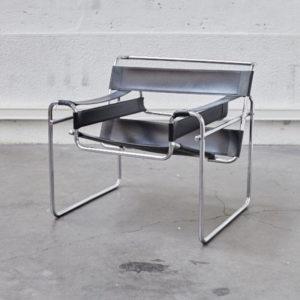 fauteuil dans le gout de Marcel breuer wassily chair design vinytage mobilier pieds compas mobilier scandinave