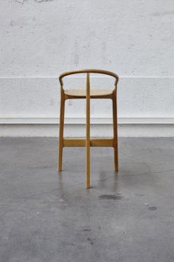 Tabouret de bar italien vintage scandinave pieds compas design mobilier chaise