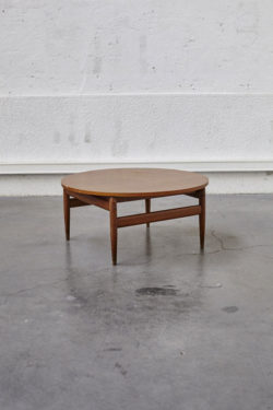 Table basse italienne mobilier vintage pieds compas scandinave