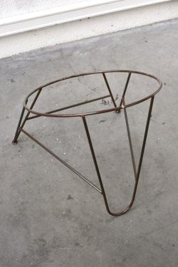 fauteuil rotin vintage pieds compas mobilier scandinave décoration