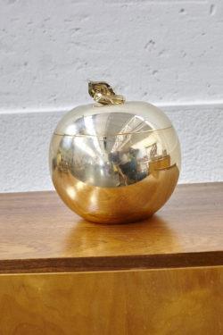 pomme pot à glaçon doré décoration mobilier vintage pieds compas