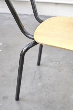 chaise ecole vintage retro pieds compas scolaire baumann mulca mullca fauteuil chaise bois tubulaire moderniste annees 50 sixties scandinave design deco home deco lyon concept store pop up store vintage shop boutique brocante