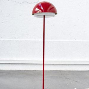 Lampadaire rouge vintage design pieds compas