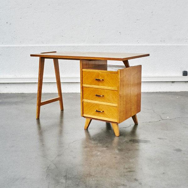 bureau pieds compas vintage mobilier scandinave enfilade design furniture - Mobilier Scandinave