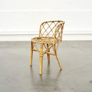 fauteuil rotin vintage mobilier scandinave pieds compas enfilade design déco home furniture