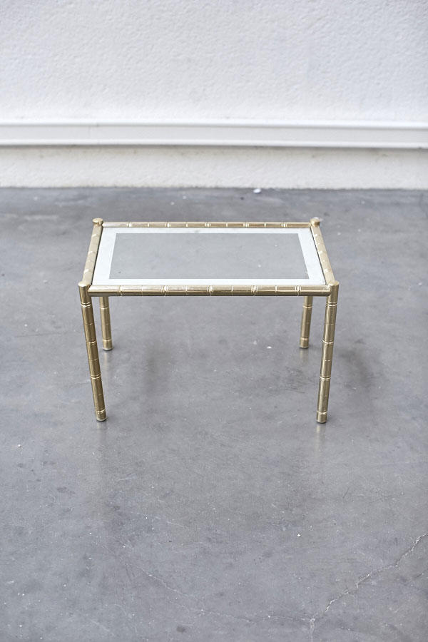 petite table basse dor e pieds compas. Black Bedroom Furniture Sets. Home Design Ideas