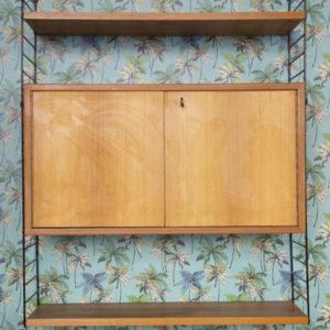 caisson string étagère vintage design midcentury mobilier pieds compas