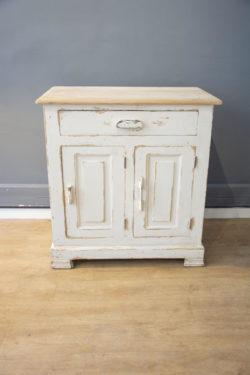 buffet blanc campagne style pieds compas mobilier vintage