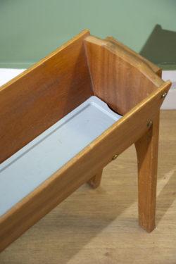 jardinière en teck mobilier scandinave pieds compas vintage
