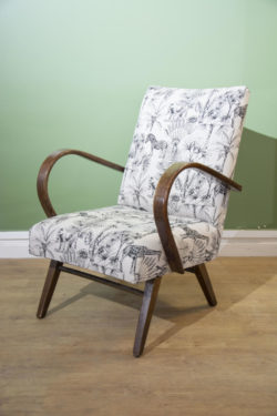 fauteuil vintage pieds compas mobilier scandinave déco