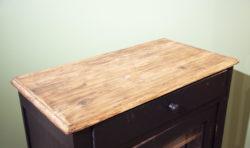 confiturier noir vintage mobilier pieds compas style campagne