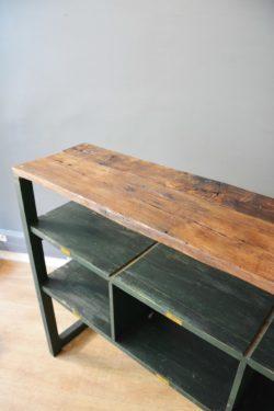 étagère console industrielle mobilier vintage pieds compas déco home scandinave