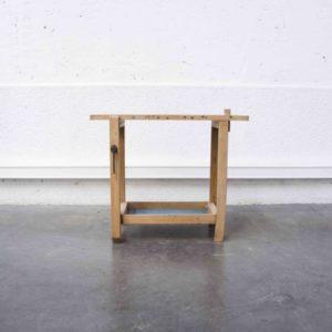 petit établi ancien mobilier vintage pieds compas Lyon brocante déco décoration enfilade scandinave table bistrot chaise d'école