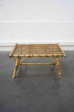 table basse rotin vintage pieds compas brocante déco décoration fauteuil vintage enfilade scandinave table bistrot chaise d'école