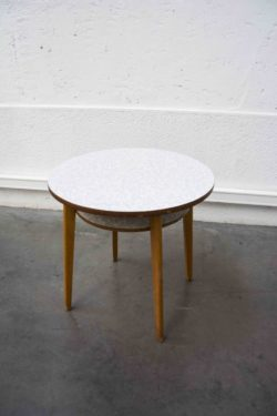 table d'appoint formica pieds compas mobilier vintage enfilade scandinave table bistro brocante