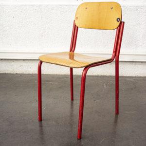 chaise d'école italienne mobilier vintage pieds compas enfilade scandinave table bistrot