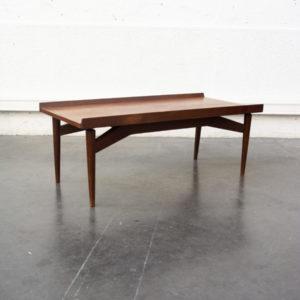 table basse teck mobilier vintage pieds compas enfilade scandinave table bistrot chaise d'école