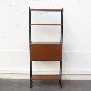bibliothèque italienne vintage mobilier pieds compas enfilade scandinave table bistrot chaise d'école brocante Lyon déco