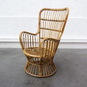 fauteuil en rotin pieds compas mobilier vintage Lyon déco enfilade scandinave table bistrot chaise d'école
