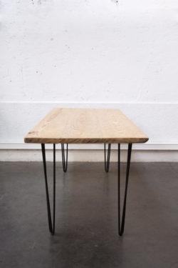 table vintage pieds compas brocante Lyon mobilier scandinave enfilade table bistro chaise d'école design
