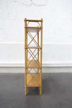 étagère rotin vintage mobilier pieds compas enfilade scandinave table bistrot chaise d'école