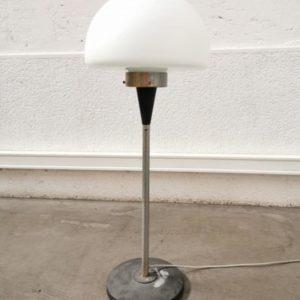 lampe design indus mobilier vintage retro opaline pieds compas laiton deco decoration interieure home lyon shop lampadaire